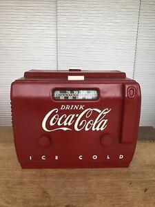 Vintage Coca Cola Cooler Radio 1948