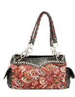 New Blazin Roxx Women's Quilted Paisley Bag, Handbag, Purse - Western BLING!