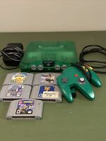 Nintendo 64 Jungle Green Console Bundle With Controller And 5 Games!