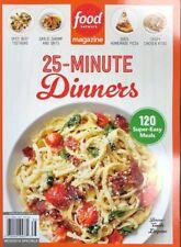 2018 FOOD NETWORK MAGAZINE 25 MINUTE DINNERS cooks illustrated