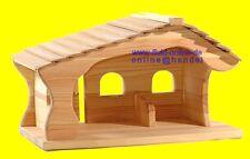 original OSTHEIMER 5550113 Weihnachtskrippe Krippenstall Krippe Stall Holz NEU