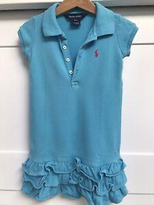 Girls Ralph Lauren Summer T-shirt Dress Blue Summer - Age 3T - 3 Years