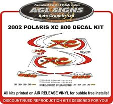 2002 POLARIS 800 XC EDGE SP Decal Set  stickers reproduction