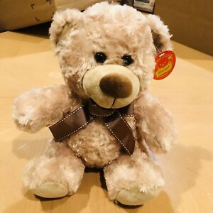 """9"""" Brown Plush Teddy Bear Stuffed  extremely Soft & Huggable Gift Valentines day"""