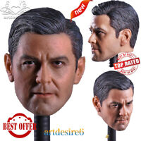 "JXtoys-05 1/6 Scale Male Head Sculpt Carving George Clooney Model Fit 12""Body"