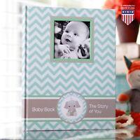 Baby Memory Book - Newborn Journal - First Year Book Album Baby Shower Gift Boy