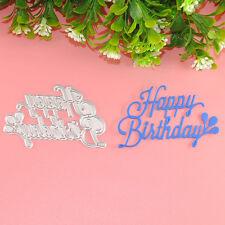 Happy Birthday DIY Metal Cutting Dies Stencil Scrapbooking Album Card Embossing