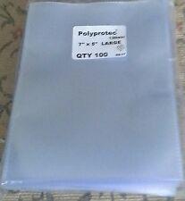 "50 Polyprotec 7"" X 5"" Sleeves Postcard Photographs Documents Postal History"