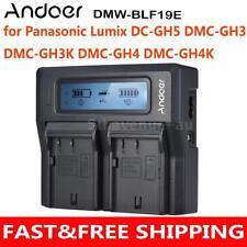 Camera Battery Charger Panasonic Lumix DC-GH5 DMC-GH3 DMC-GH3K DMC-GH4 DMC-GH4K