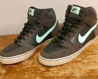 NIKE DUNK HIGH LR Size 10.5 BLACK Mint Green Anthracite 487924 030 skateboarding