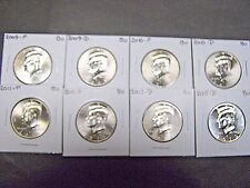 2009 2010 2011 2012  P  D  KENNEDY HALF DOLLARS FROM MINT ROLLS (8 Coins)