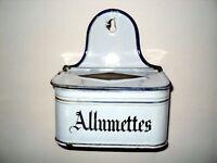 #  ancienne boite d'allumettes pyrogène en tole émaillée