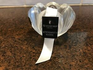 NEW Waterford Crystal Votive Tea Light Candle Holder, Attendant's Pattern, MINT!