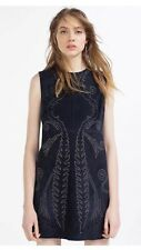 Zara Suede Leather Stud Dress Mini Cut Out Embellished
