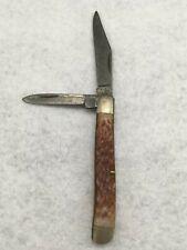 Kabar 1019 USA double blade faux wood handle pocket knife