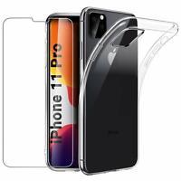 Coque pour iPhone 11 Pro Max 6s 7 8 Plus XR XS 2019 Antichoc Slim + Verre trempé