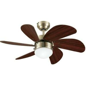 Turbo Swirl 30-Inch Indoor Ceiling Fan with Dimmable LED Light Fixture