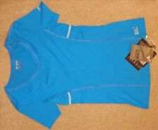 Women's EA7 Emporio Armani Blue Activewear Sports Top TShirt - Size Small - BNWT
