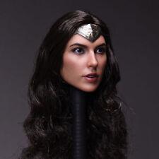 """1/6 Scale Wonder Woman BVS Gal Gadot Head Sculpt Carving Model For 12"""" Figure"""