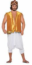 Men's Gold Genie Vest Aladdin SultanDesert Prince Costume Accessory SizeStandard