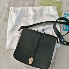 FURLA black and white leather cross-body shoulder bag + dustbag in VGC