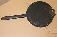 antikes Waffeleisen  für  5 Herzwaffel 44 cm lang mit Stiel Backfläche Durchm 23