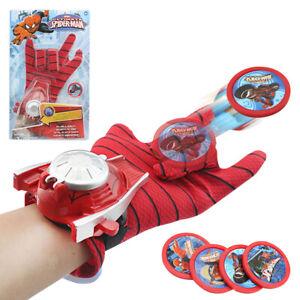 Marvel Spiderman Kids Toy PVC Web Launcher Gloves Action Kit Xmas Hot Gift 24cm