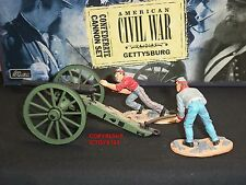BRITAINS 17393 CONFEDERATE INFANTRY CANNON METAL TOY SOLDIER FIGURE SET