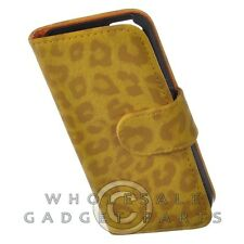 Apple iPhone 5S/SE Wallet Pouch - Leopard Gold Case Cover Shell Protector Guard