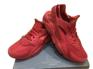 Mens Nike Air Huarache Trainers Size 10 Red VGC