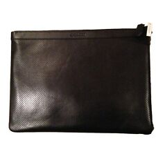 Coach Leather Tablet Business Portfolio Pouch Envelope F63066 NWT 295 BLACK