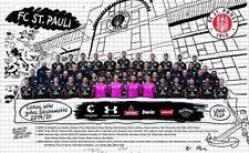 FC St. Pauli Poster, Team Plakat, Mannschaftsposter 2019/20 - Plus Aufkleber Fan