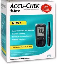 ACCU-CHEK Active Blood Glucose Glucometer-10 Lancet+10 Strips Free