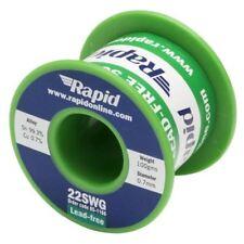 Rapid libre de Plomo Cable de soldadura 22swg 0.7mm 100g Rollo