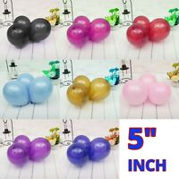 "10-100 5"" INCH PLAIN  BALLOONS BALLONS helium BALOON Birthday Wedding Party"