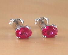 925 Ruby( Lab Created) Stud Earrings/7mm Ruby Stud Earrings/Ruby Jewellery/July