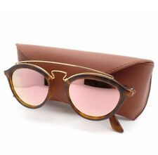 New Ray Ban 4257 6092/2Y 50mm Matte Havana Gold Pink Mirror Authentic Sunglasses