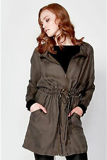 FATE + BECKER Emelyn Khaki Parka - Size 12 - New