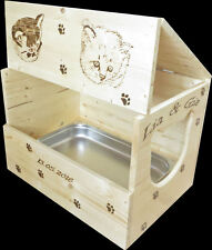 Katzentoilette, Katzen WC mit Edelstahlschale