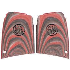 Sig Sauer P290 G10 Laminate Black & Red Enhanced New Factory Grips