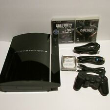 Sony Playstation 3 PS3 Fat Console 80GB CECHK01 Controller Games Bundle Tested