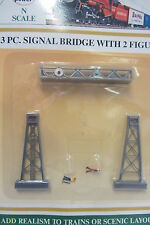 pont signal voies rail + 2 personnages décor train miniature MP-1311 N 1/160