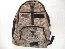 USMC MARINES SCOUT SNIPER BACKPACK DAY PACK  BOOK  BAG DESERT CAMO  EMBROIDERED