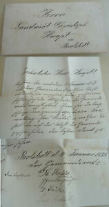 Letter Gemeinderat Berlstedt 1886: Thanks To to The Farewell From Christoph Main