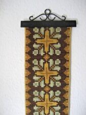Vintage Klokkestreng Wool TAPESTRY Bellpull DENMARK Wall Decor Folk Art #34