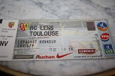 TICKET )) RC LENS V TOULOUSE TFC )) saison 2003/2004