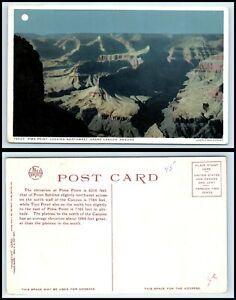 ARIZONA Postcard - Grand Canyon, Pima Point Looking Northwest F46