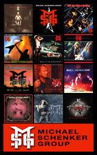 "MICHAEL SCHENKER GROUP album discography magnet (4.5"" x 3.5"")"
