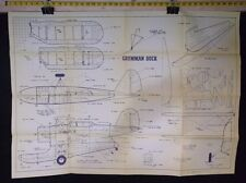 VINTAGE GRUMMAN DUCK MODEL AIRPLANE DRAWINGS - PLANS  AS PICTURED *G-COND*