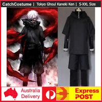 Full Outfit Tokyo Ghoul Kaneki Ken Hoodie Sweater Cosplay Halloween Costume